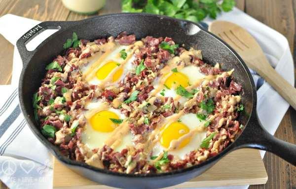 Corned Beef Hash Breakfast Skillet Paleo Low Carb