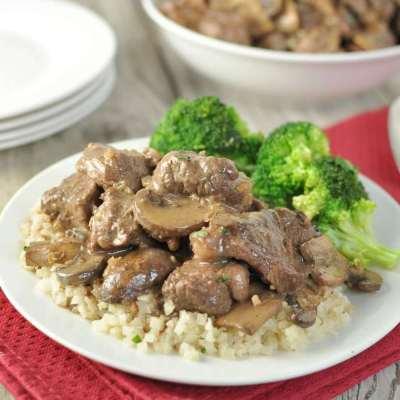 Beef Tips in Mushroom Brown Gravy – Low Carb, Gluten Free, Primal