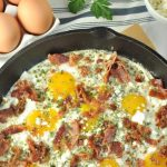 This Creamy Herbed Bacon and Egg Skillet will definitely jazz up your breakfast routine. A one pot meal that's easy to throw together and so satisfying.