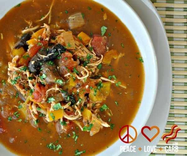 Chicken Fajita Soup | Peace Love and Low Carb