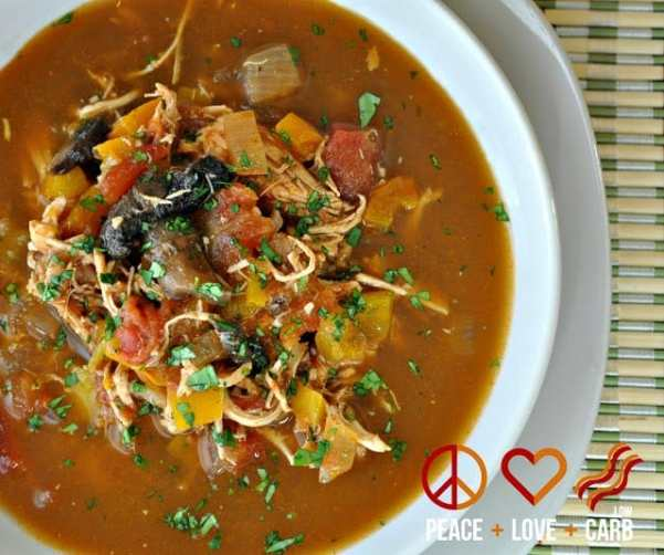 Chicken Fajita Soup | Peace Love and Low Carb