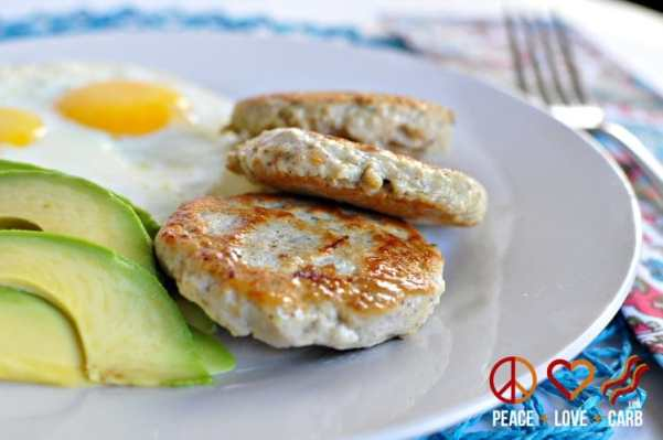 Maple Chicken Breakfast Sausages | Peace Love and Low Carb