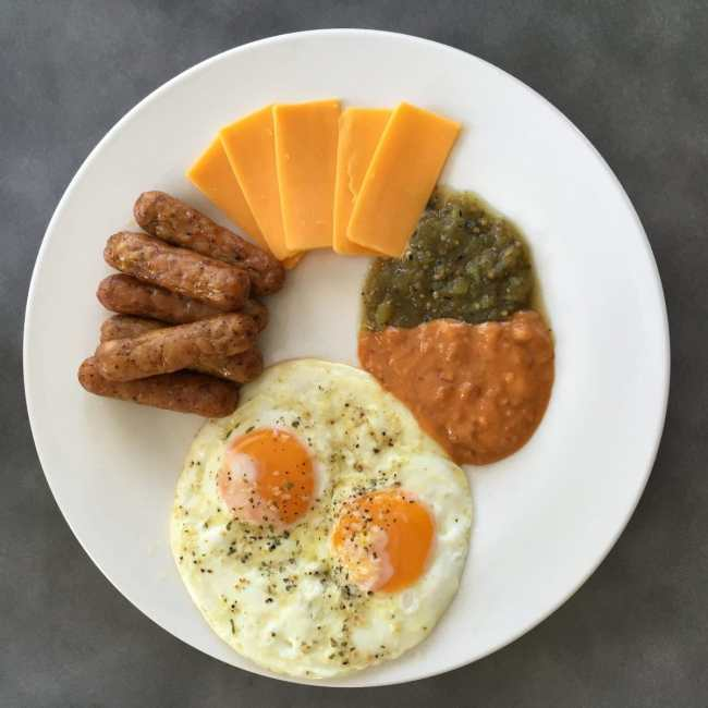 Sausage, Eggs, Cheese and Salsa | Peace Love and Low Carb