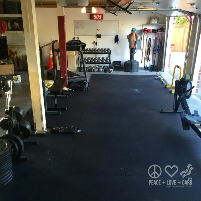 Our Garage Home Gym | Peace Love and Low Carb
