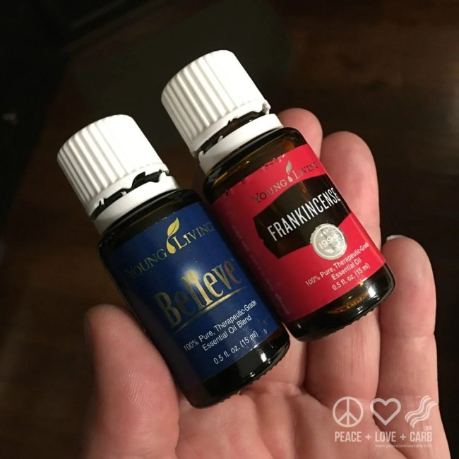 Believe and Frankincense During Yoga | Peace Love and Low Carb