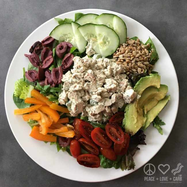 Dill Chicken Salad - Salad a Day Challenge | Peace Love and Low Carb