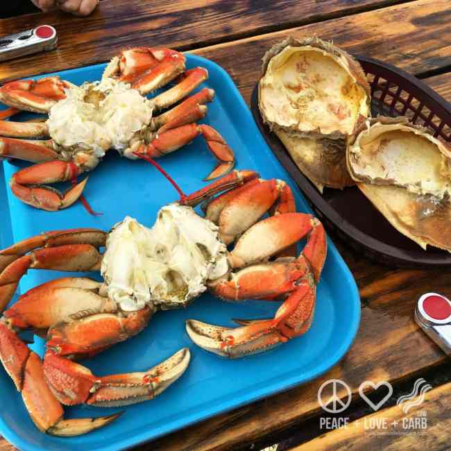 Fresh Crab Lunch at Buck Bay Shellfish Farm | Peace Love and Low Carb