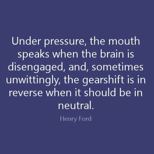 Under Pressure...