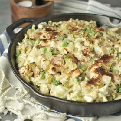 Cabbage Noodle Tuna Casserole  – Low Carb, Gluten Free