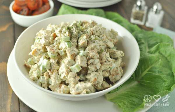 Dill Chicken Salad - Low Carb, Paleo, Whole30 | Peace Love and Low Carb