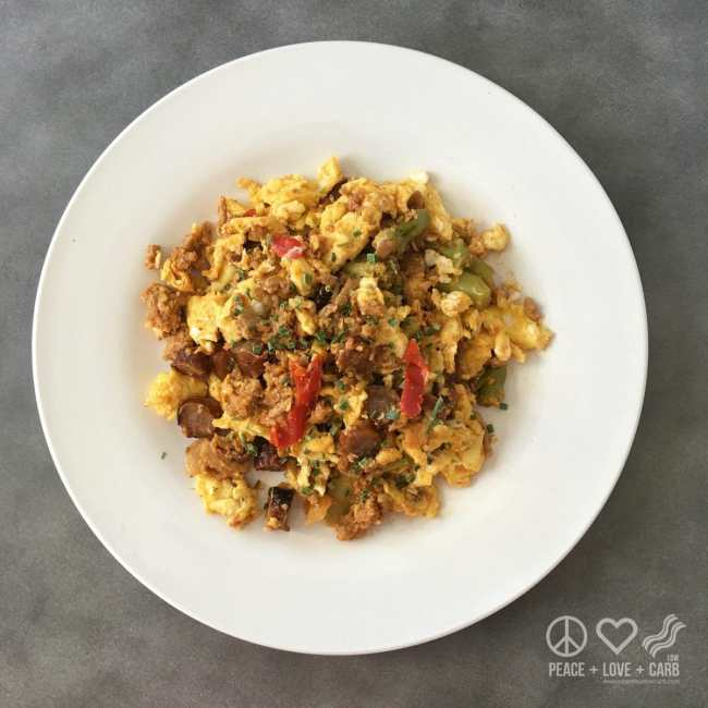 Leftover Breakfast Scramble | Peace Love and Low Carb