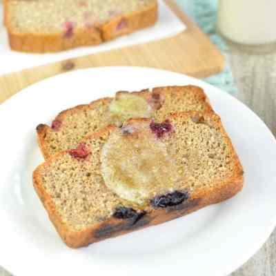 Peanut Butter Berry Breakfast Loaf | Low Carb, Gluten Free