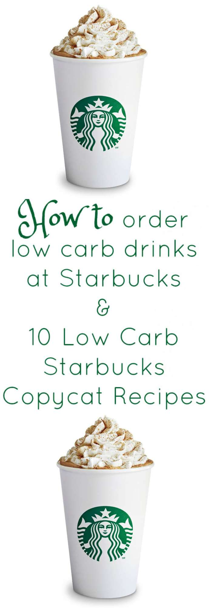 How to Order Low Carb / Keto at Starbucks and 10 Low Carb Starbucks Copycat Recipes