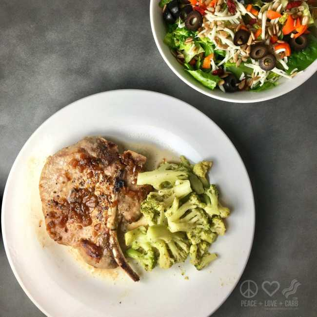 Lemon Thyme Pork Steaks and Salad | Peace Love and Low Carb