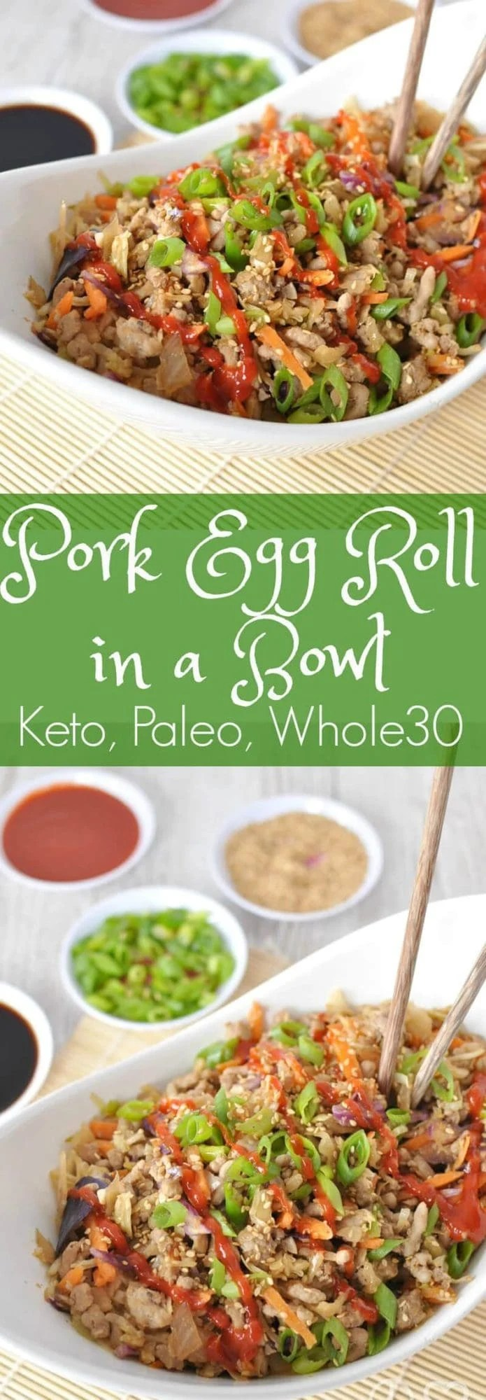 Paleo Pork Egg Roll in a Bowl (Crack Slaw)   Peace Love and Low Carb