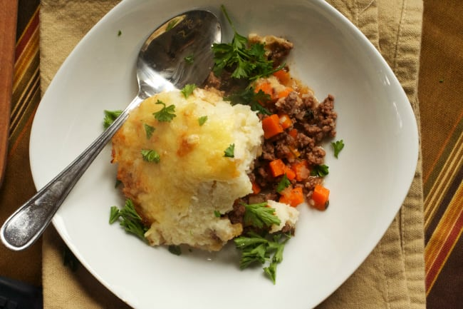 Shepherd's Pie with Cauliflower Mash