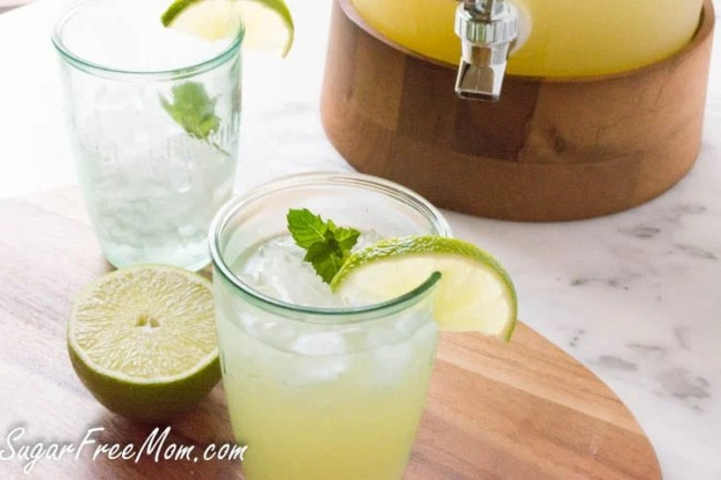 Low Carb Copycat Starbucks Cool Lime Refresher