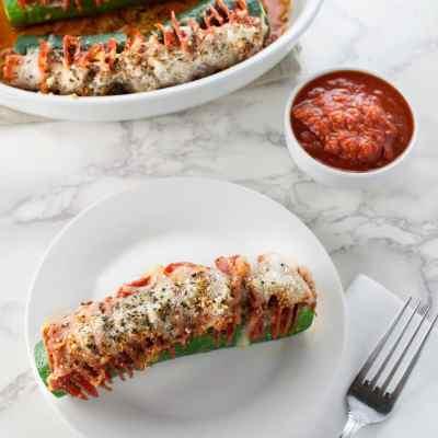 Hasselback Zucchini Pepperoni Pizza