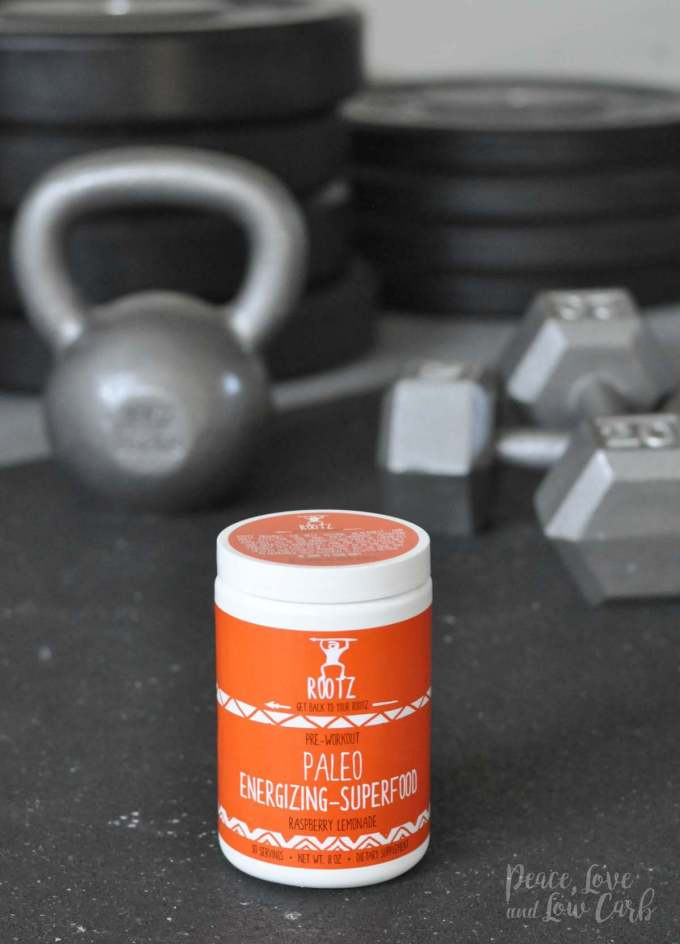 Paleo Energizing Superfood Pre-Workout Low Carb - Peace Love and Low Carb