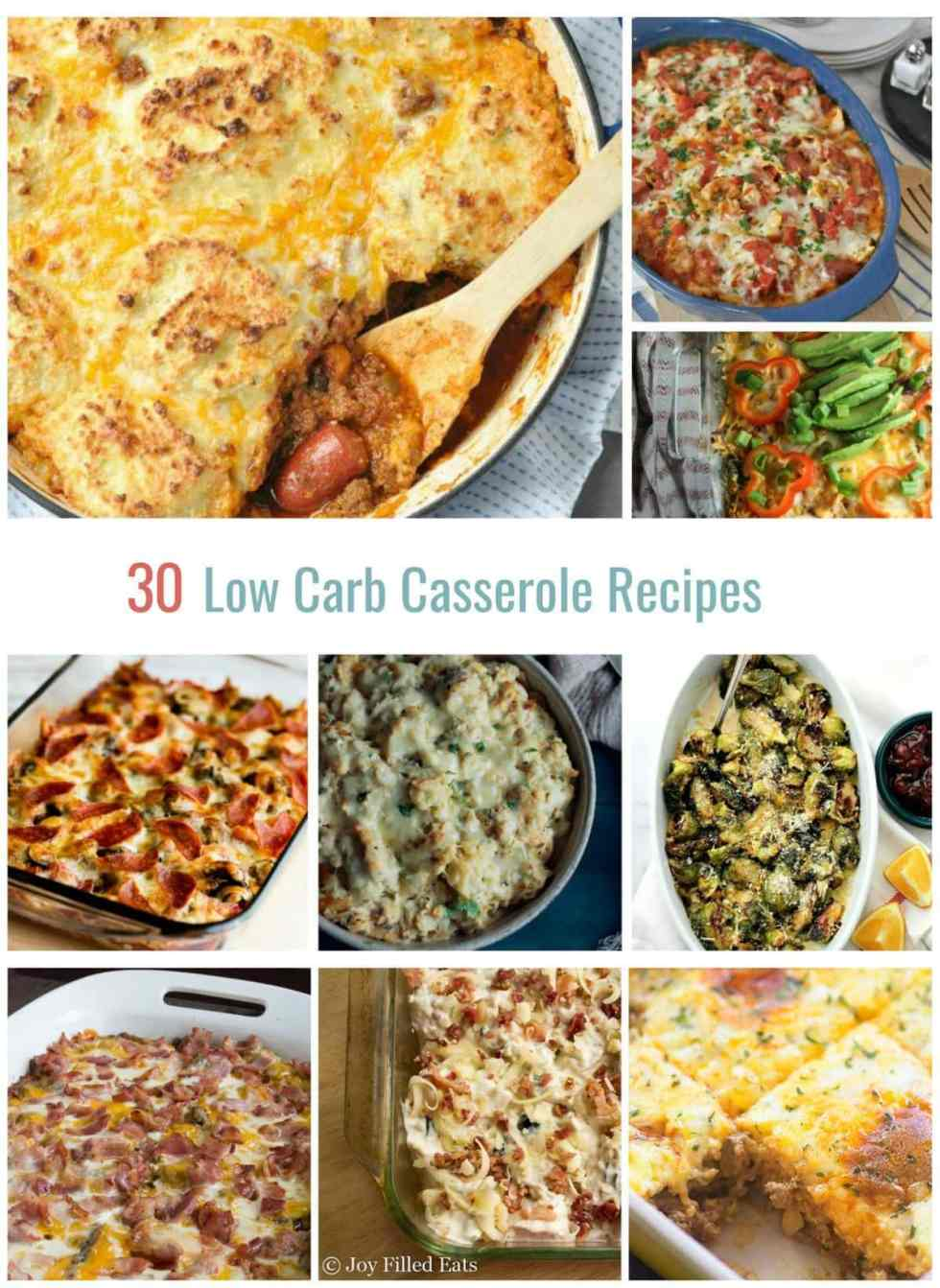 30 Low Carb Casserole Recipes | Peace Love and Low Carb