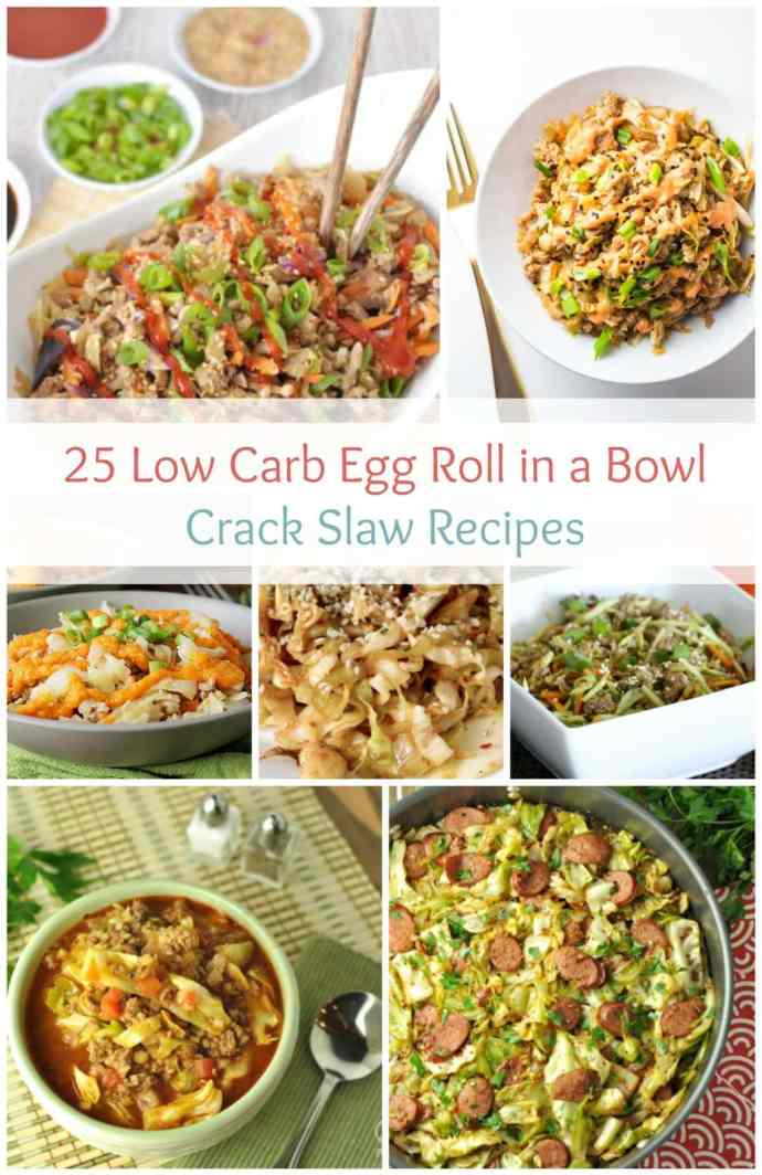 25 Low Carb Egg Roll in a Bowl Crack Slaw Recipes | Peace Love and low Carb