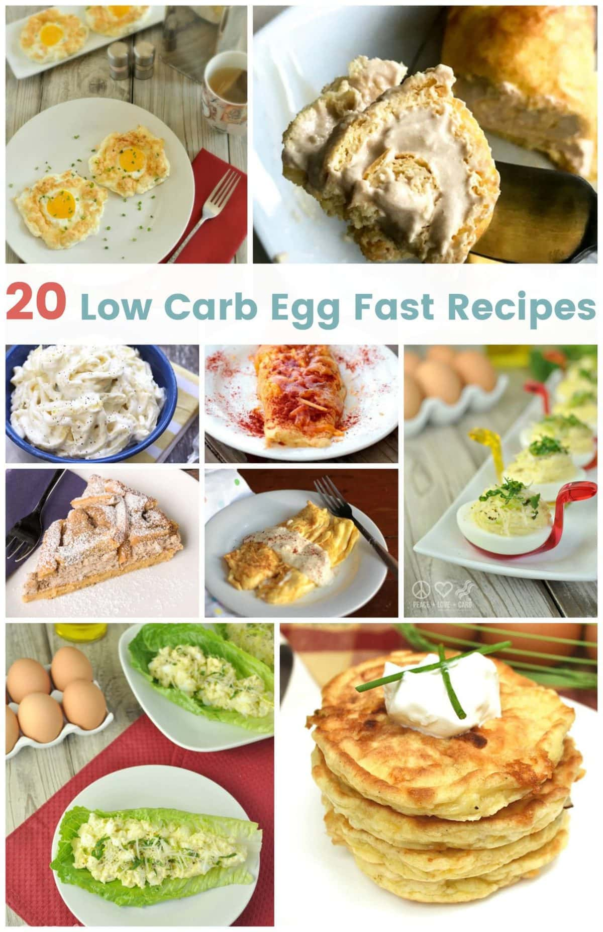 20 Egg Fast Recipes | Peace Love and Low Carb