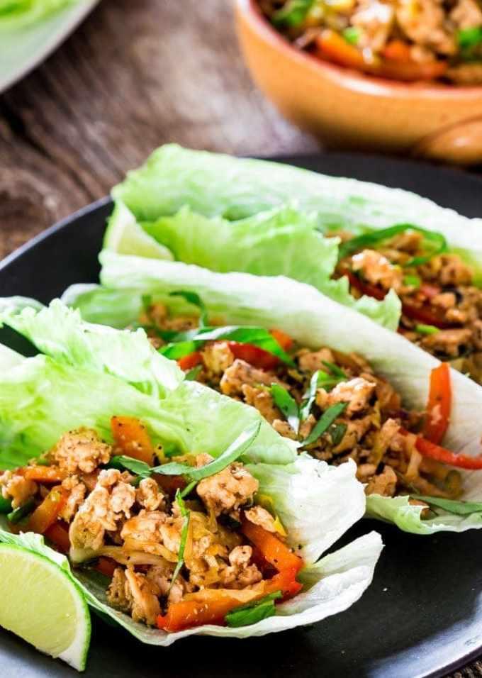 Hoisin Chicken lettuce Wraps | Chef Savvy