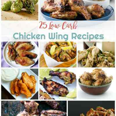 25 Low Carb Chicken Wing Recipes