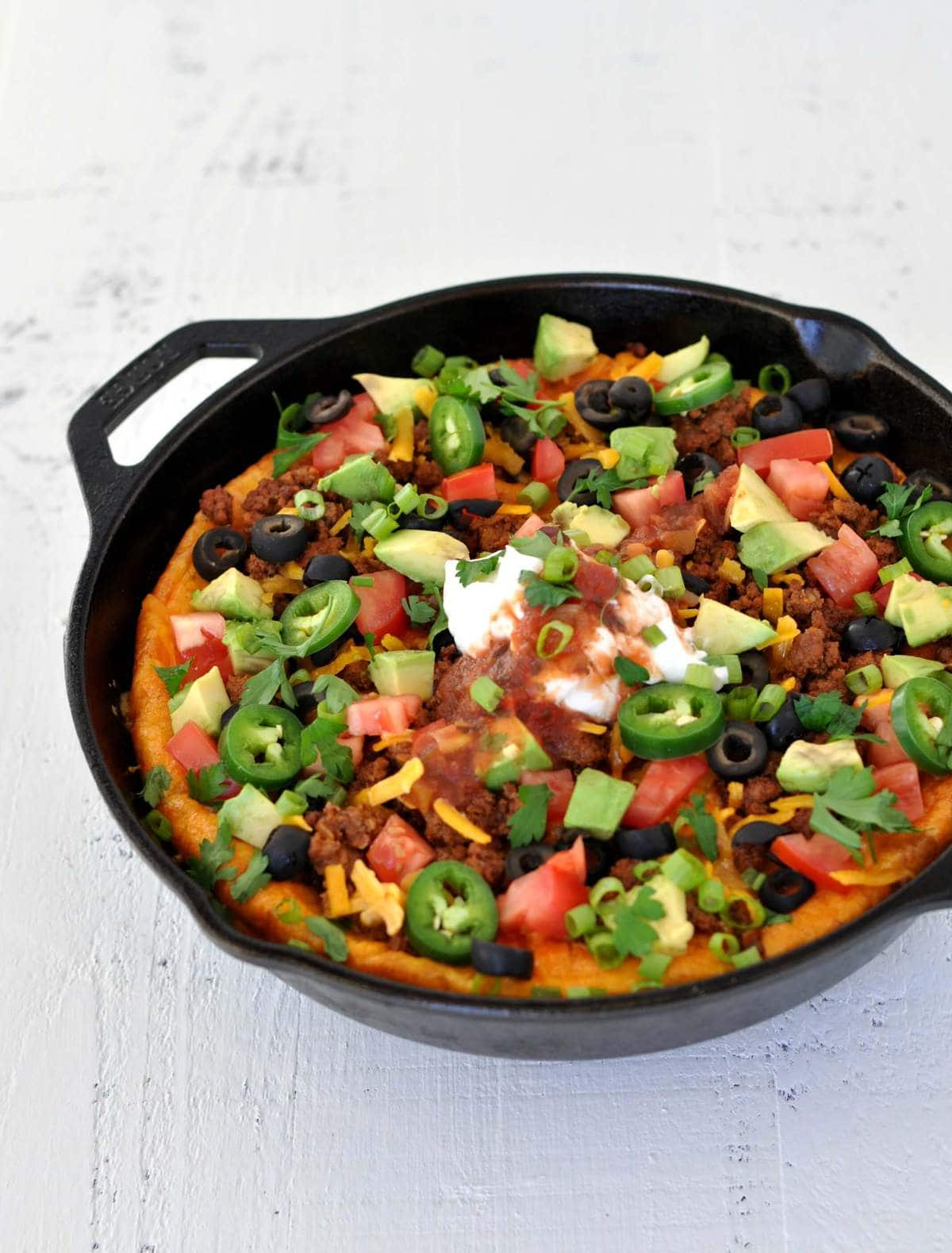 Keto Taco Breakfast Skillet - Peace Love and Low Carb