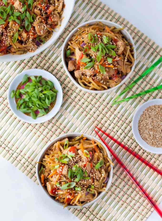 Sesame Chicken Egg Roll in a Bowl | Peace Love and Low Carb