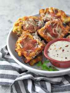 Fathead Pepperoni Waffle Pizza Dippers - Peace Love and Low Carb