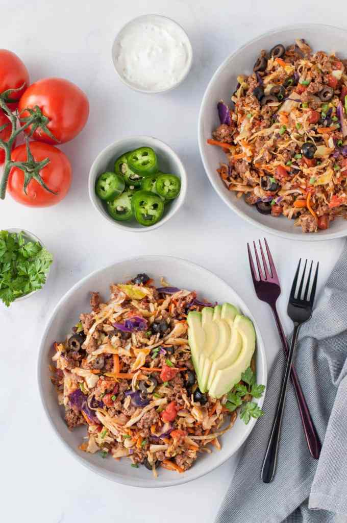 Warm Taco Slaw | Peace Love and Low Carb