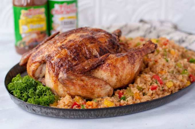 Keto Cajun Whole Roasted Chicken | Peace Love and Low Carb