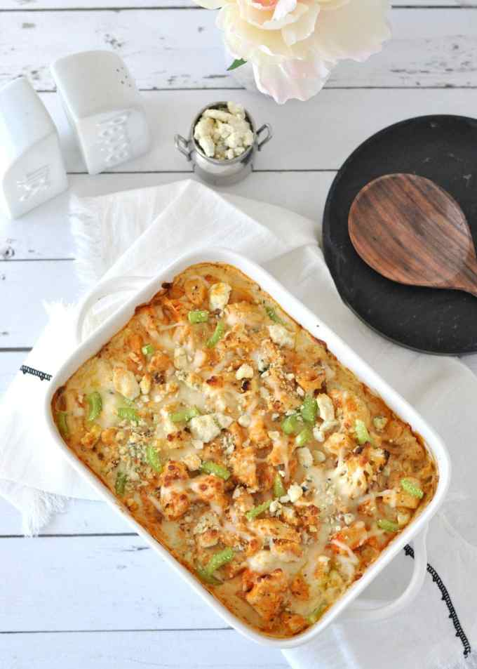 Keto Buffalo Chicken Cauliflower Mac and Cheese   Peace Love and Low Carb