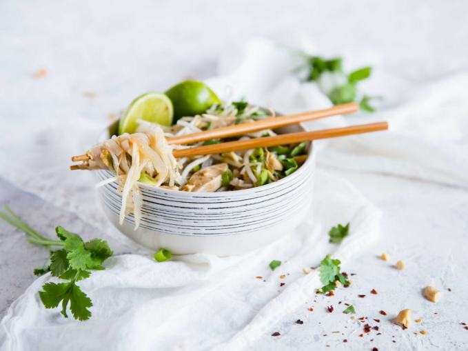 This quick and easy Keto Chicken Pad Thai holds its own against traditional high carb thai food. Best of all, it is quick, easy, and loaded with flavor.