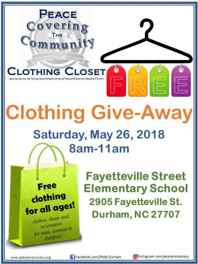 peace missionary baptist clothing giveaway