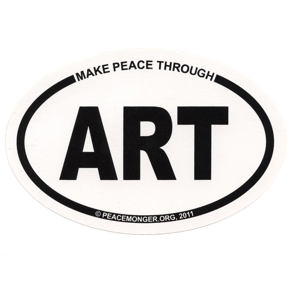 Make Peace Through ART Oval Sticker