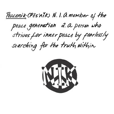 Definition of a Peacenik on Back of Hemp/Organic Cotton Crew