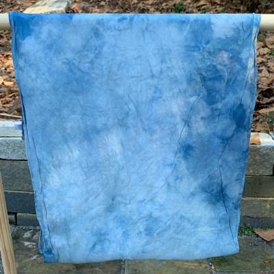 habotai infinity scarf   pine + indigo