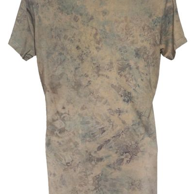 Bamboo Scoop neck dyed with indigo and cutch