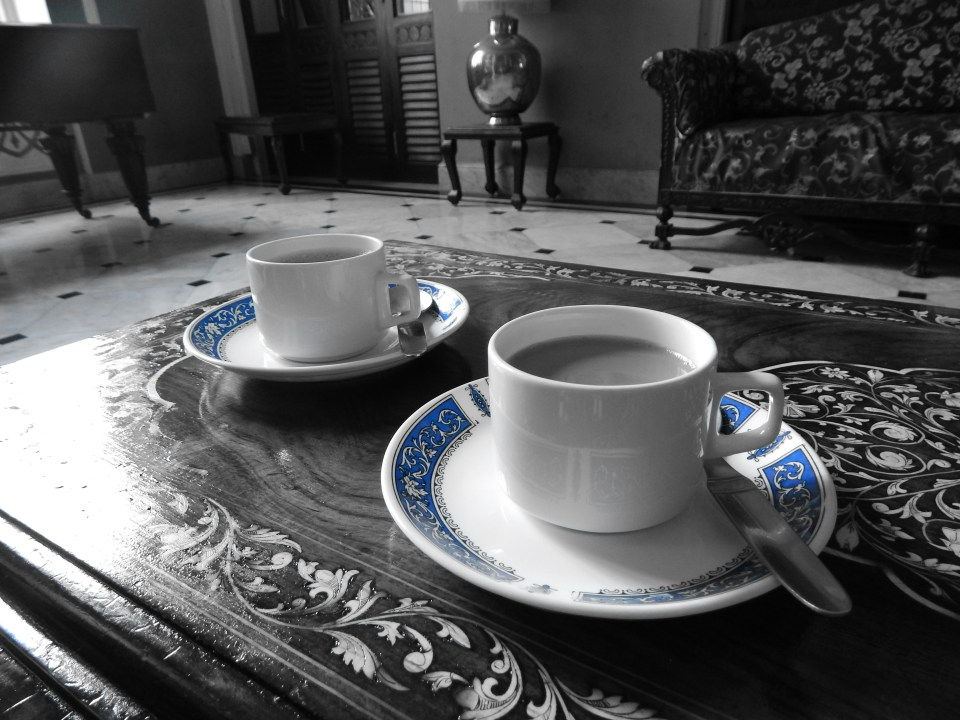 Chai time at Lalit Mahal Palace