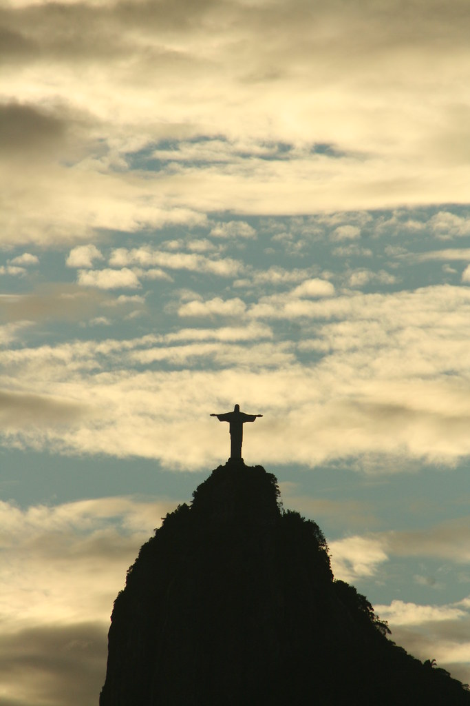 Christ the Redeemer at sunset