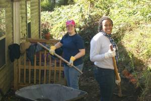 WPU Students fixing a home in the Appalachian Mountains.