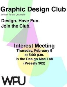 WPU Graphic Design Club poster