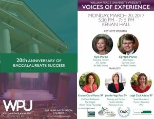 Voices of Experience at WPU poster