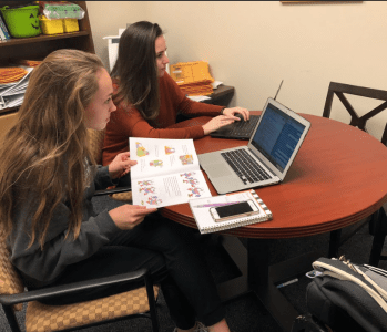 Students wearing different styles of outfits while studying