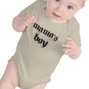 Mama's Boy baby shirt