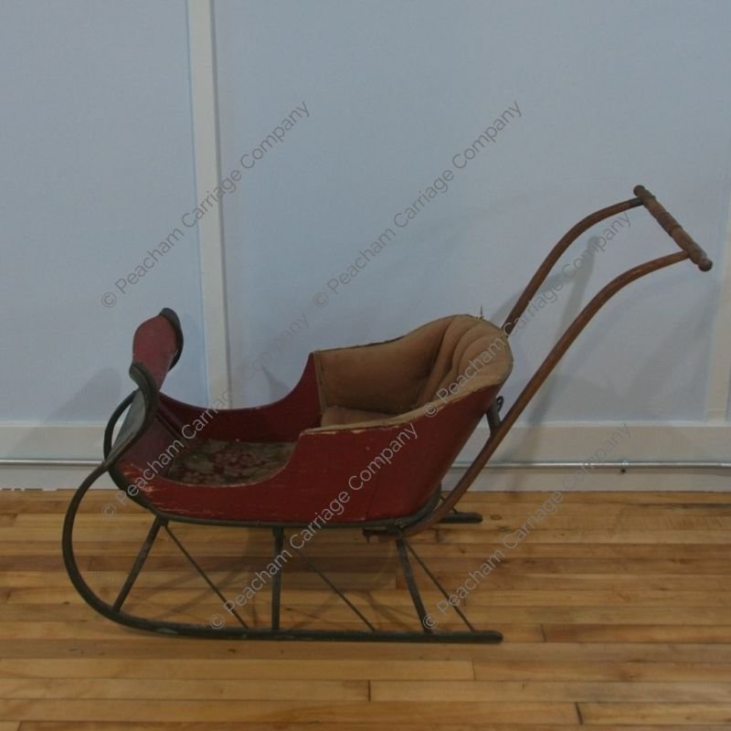 Antique Child's Push Sled