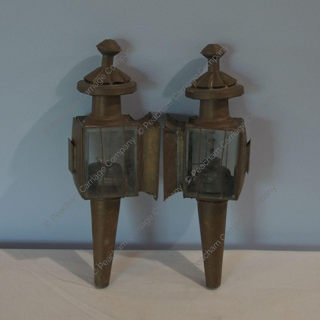 Pair of Brass Carriage Lanterns