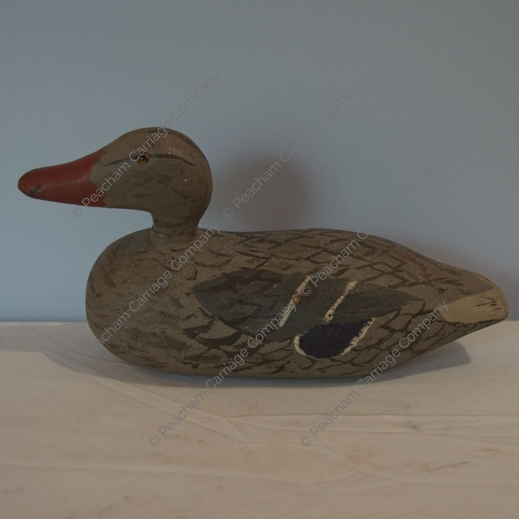 Painted Decoy With Glass Eyes